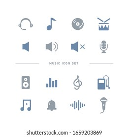 COLLECTION OF MUSIC FLAT ICONS