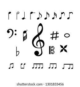 Collection of music note icon