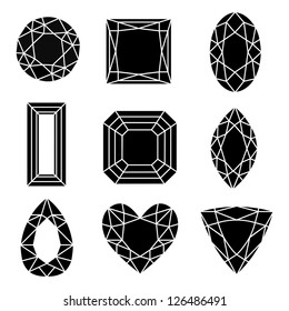 Collection of Nine Vector Gemstones. See others in my portfolio.