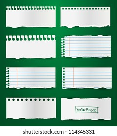 Collection note paper vector, ( Teared paper, Ripped papers )