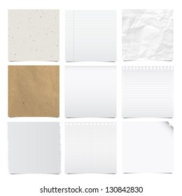 Collection of note papers background ,Illustration