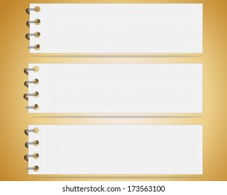 Collection of note papers background ,Illustration eps 10