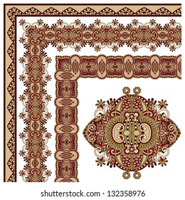 collection of ornamental floral vintage frame design. All components are easy editable