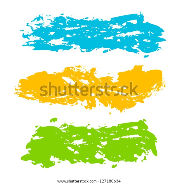 Collection Paint Splash Vector Set Brush Stock Vector (Royalty Free
