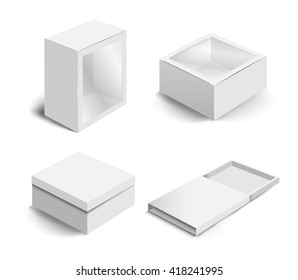 Collection of paper box packaging (Vector eps10)