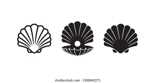 Collection of Pearl Shell logo/icon design. can be used as symbols, brand identity, company logo, icons, or others. Color and text can be changed according to your need.