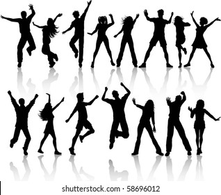Collection of people dancing