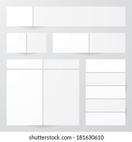 collection of perforated paper designs. vector.