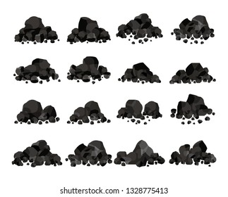 Collection of Pile of charcoal,Coal