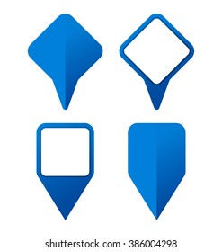 collection of pinpoint icons for logo or map applications