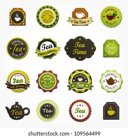 Collection of premium quality tea labels