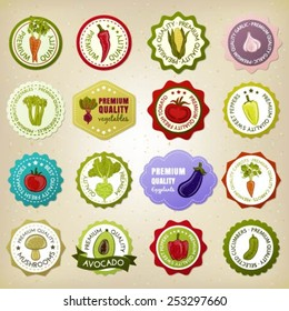 Collection of premium quality vegetable badges