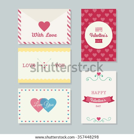 Collection Printable Beautiful Valentines Greeting Cards Stock