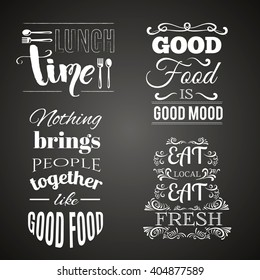 Collection of  quote typographical background hand drawn elements and unique lettering. Template for business card, poster and banner