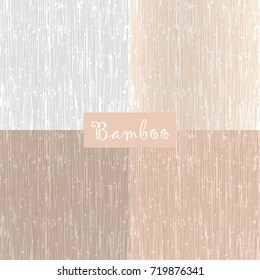Collection of Reed Bamboo or Old Wood textures. Japanese style patterns. Vector