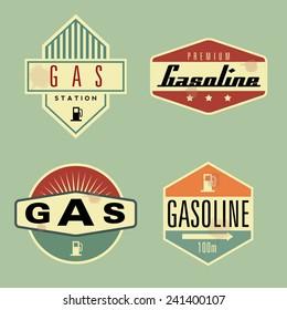 Collection of Retro Gasoline emblem