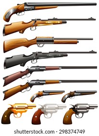 Collection of rifle and pistol guns