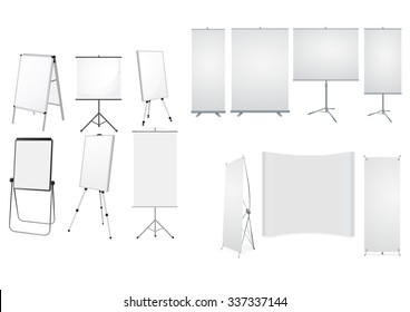 Collection of Roll up with stands