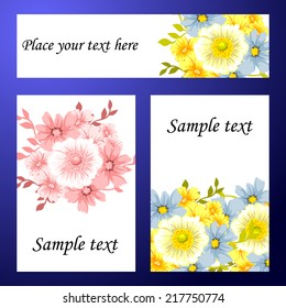 Collection of romantic invitations. Wedding, marriage, bridal, birthday, Valentine's day. Isolated.