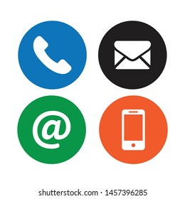 Collection round contact button icon