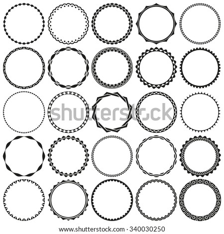 collection round decorative border frames clear stock vector Banner Background No Black Outline collection of round decorative border frames with clear background ideal for vintage label designs