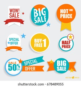 """Collection of """"Sale label price tag"""" . Vector illustration."""
