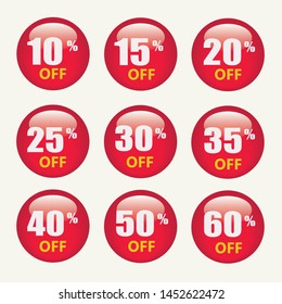 Collection of sale stickers and tags.Sale discount icons. Special offer price signs. 10, 20, 25 and 30 percent off reduction symbols. Speech bubbles or chat symbols. Colored elements. Vector