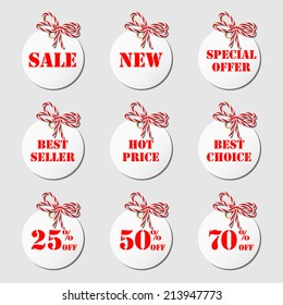 Collection of sale tags for your design