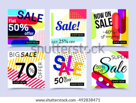 collection sale website banner templates vector stock vector