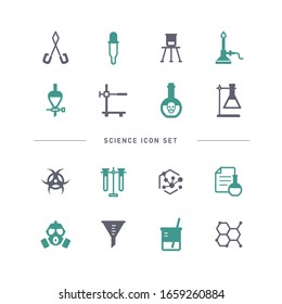 COLLECTION OF SCIENCE FLAT ICONS