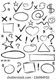 collection of scribble design element