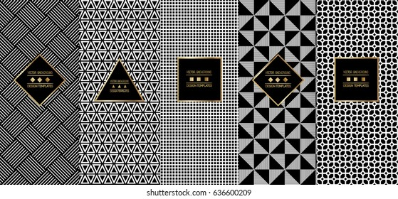 Collection of seamless ornametal patterns. Modern stylish textures. Abstract geometrical background. Vector