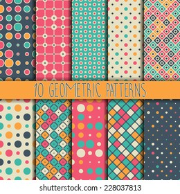 Collection seamless pattern. You can use a texture for printing on fabric, scrapbooking, or anything you choose