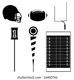 Collection set of different football theme icons