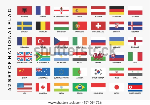 collection of set national flag