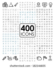 Collection set of universal thin line icons for website and mobile in medical, economy, finance, business, Eco, bio, weather, holiday, travel, web, internet, communication and network