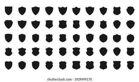 Collection of shield icon vector template isolated. logo design, flat syle  color editable vector illustration on blank background