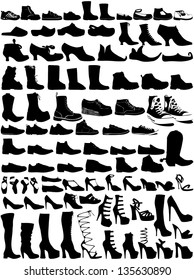 Collection of shoes