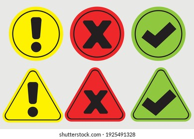 a collection of signs with various meanings such as stop, be careful and go