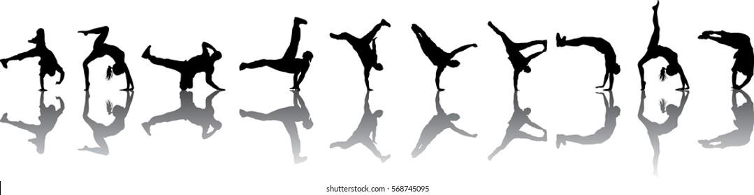 collection silhouette break dance