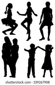 Collection of silhouettes of people