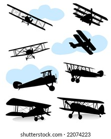 Collection Of Silhouettes Various Planes