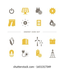 COLLECTION OF SIMPLE ENERGY ICON S