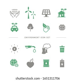 COLLECTION OF SIMPLE ENVIRONMENT ICONS