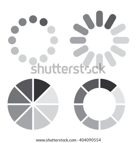 Collection Simple Web Preloaders Grayscale Stock Vector Royalty