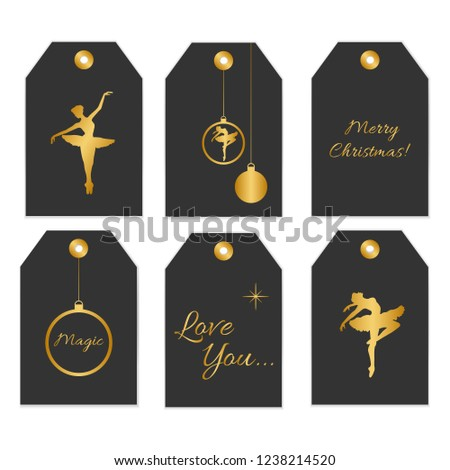 picture about Printable Trophy Labels named Selection 6 Lovely Redytouse Present Tags Inventory Vector
