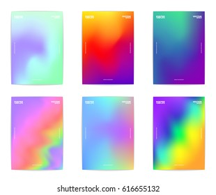 Collection of six modern abstract colorful poster templates. Vector, eps 10.