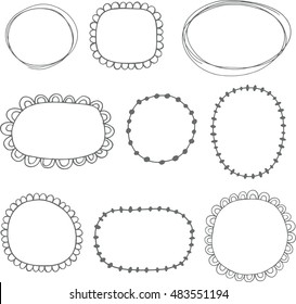 Collection of sketched frames - vector