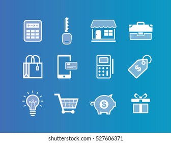 Collection of Small business icons