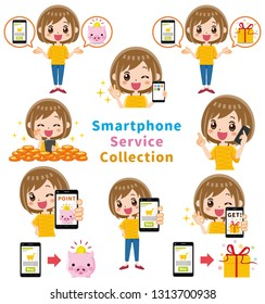 A collection of smartphone services.